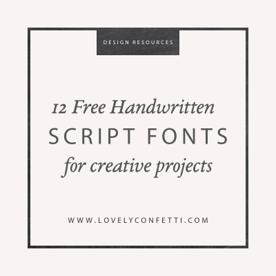 12 Free Handwritten Script Fonts for creative projects
