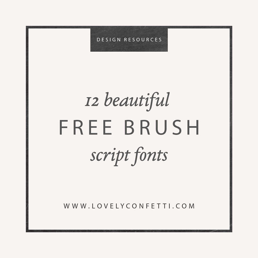 12 beautiful free brush script fonts