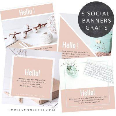 6 Banners Social Media gratis listos para descargar