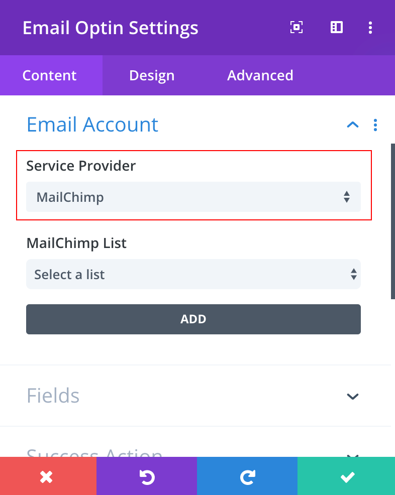 How to integrate MailChimp with Divi Builder 04