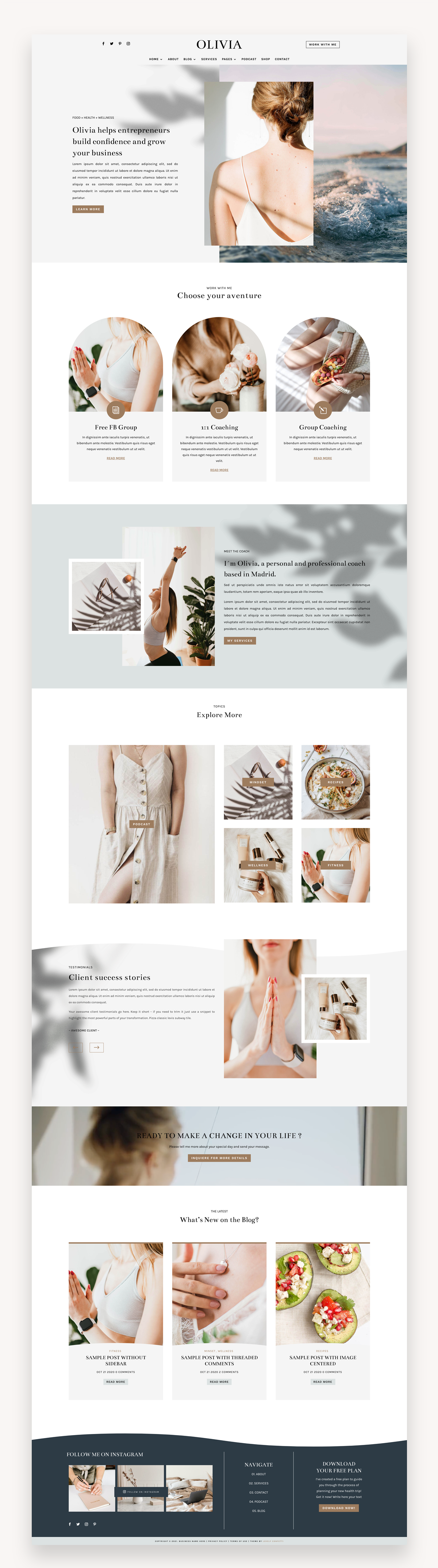 Charlize Blog Divi Child Theme