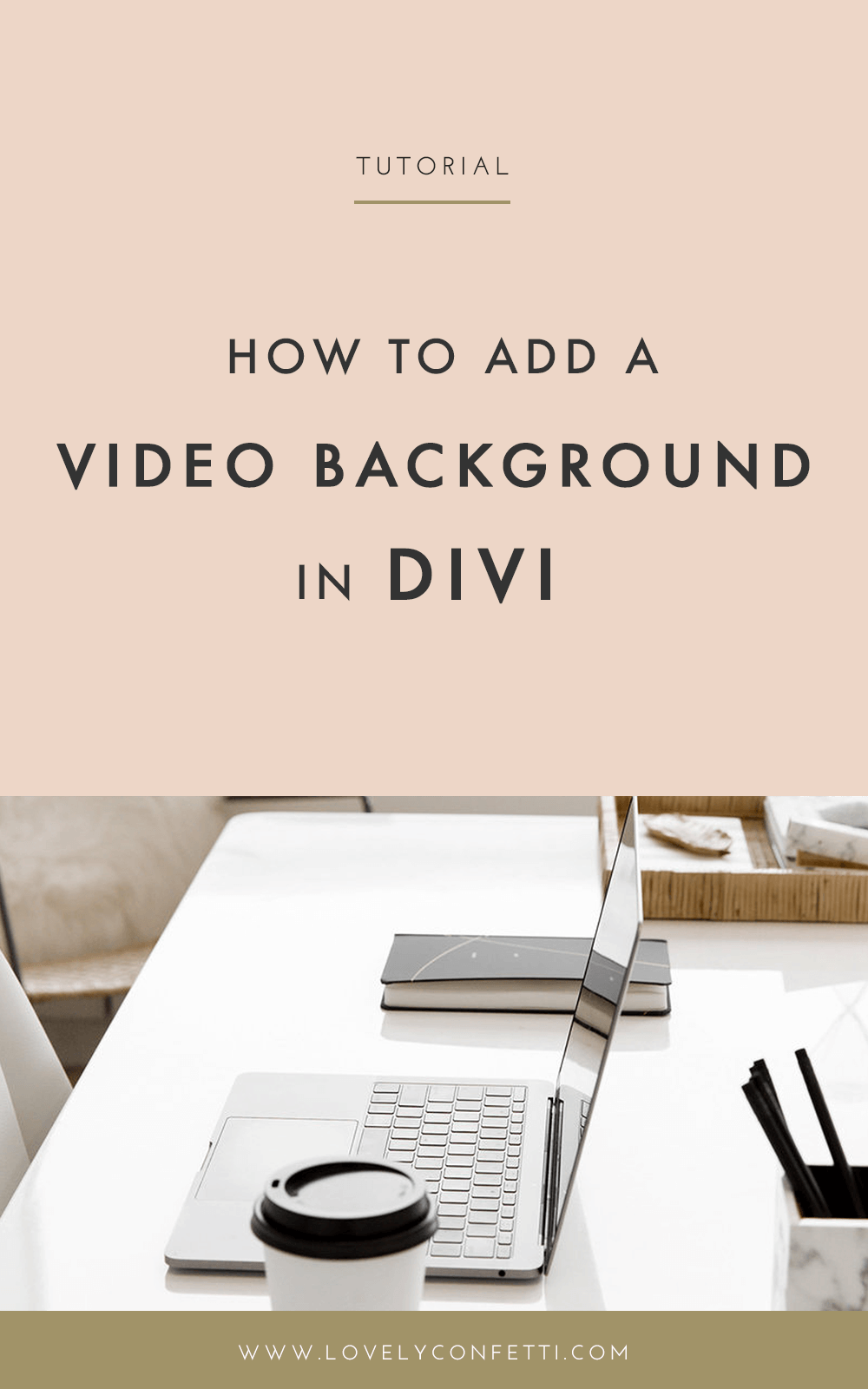 How to Add a Video Background in Divi